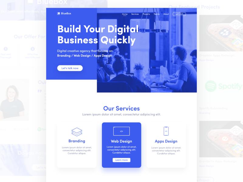 Agency Web Design web agency agency concept ui design homepage blue digital agency agency website creative agency web design agency web design