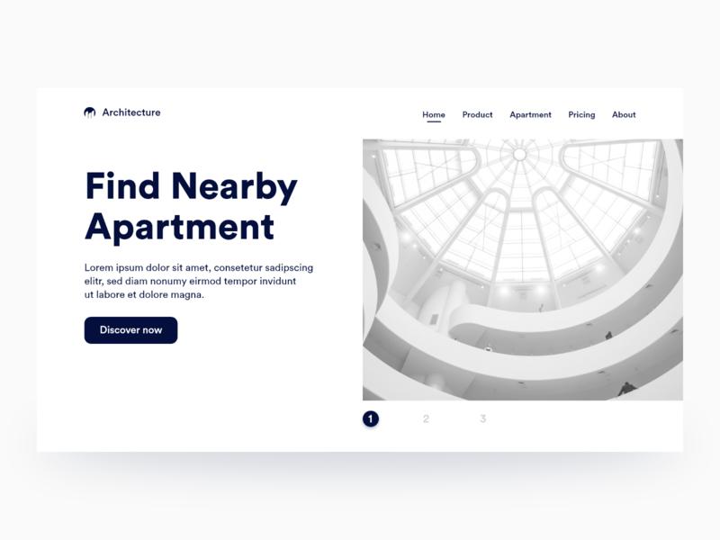 Hero - Architecture Page clean website clean web design clean clean design apartment architecture architecture design architecture website concept web design