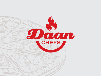 Daan chefs logo - Pizza logo