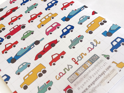 Cars for All Notebook stationary childrensillustration paper cars kids notebook graphic illustration