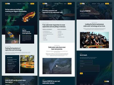 SUNFISH website web design ux ui website