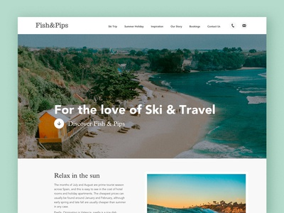Homepage design for F&P