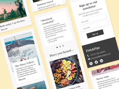 Homepage - mobile