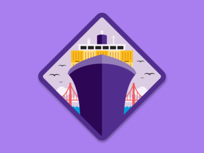Big Shipper Merit Badge sticker impact big shipper ship illustration merit badge