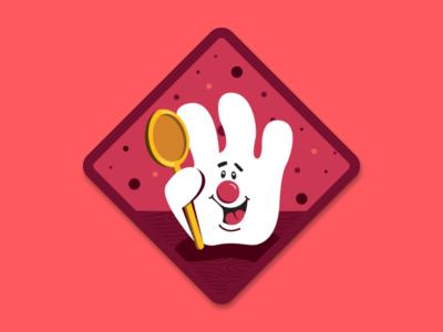 Hamburger Helper Merit Badge collaboration sticker hamburger helper illustration merit badge
