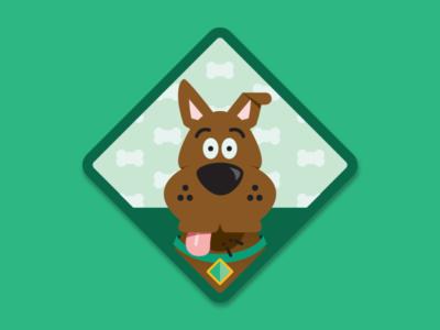 Scooby Doo(er) Merit Badge citizenship scooby doo illustration sticker merit badge
