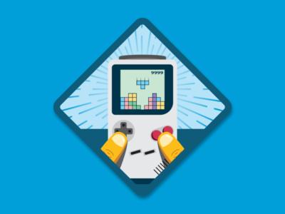 Tetris Master Merit Badge leadership tetris master tetris sticker illustration merit badge