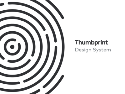 Thumbprint Design System documentation thumbprint system react components ui design system