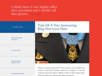 Blog Design for Medal of Honor Tributes Website