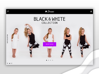 Daily UI #003 - Landing Page website ui shopping white black page landing dailyui daily challenge 003