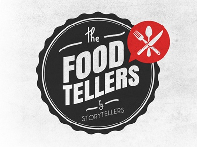 Foodtellers food craft round tipography