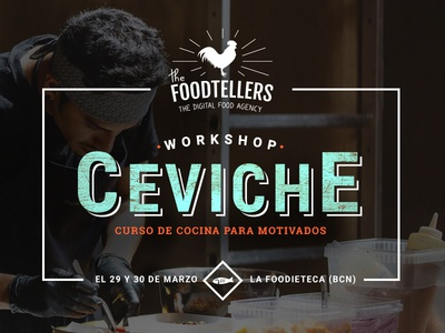 The FoodTellers cooking lessons ceviche fish font type cooking craft food