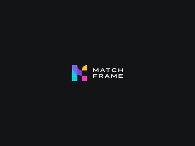 Logo Match Frame designer webdesigner branding graphicidentity chartegraphique blackbackground rvbcolors cmjncolors logo