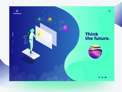 Tomorrow - Think the future flat design illustration future ui design sketchapp user experience app