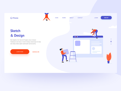 Process Design designthinking design app process web uidesign ui app teamwork team building team ui design illustration design flat design colors user experience sketchapp