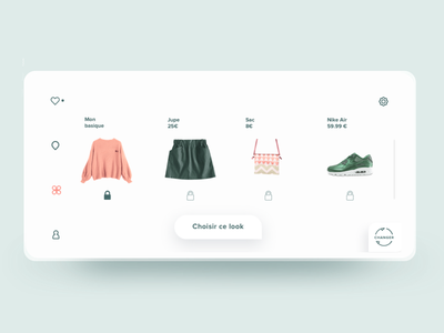 Clover app look builder clothing uxui design thinking