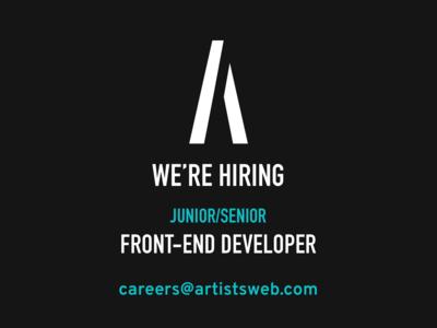 We're hiring - junior/senior front-end developer