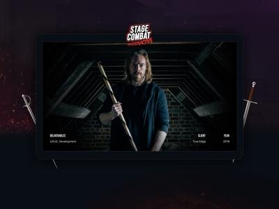 Stage Combat - Interactive Website Experience