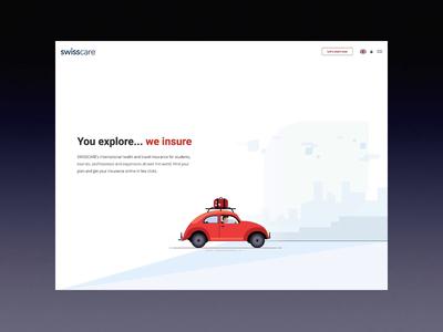 Swisscare // Homepage Destination Animation