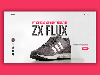 Daily UI #3 - Landing Page adobe xd adobe photoshop zx flux debut shoe red page web adidas landing ui daily