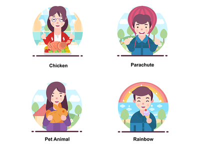 Avatar Happy illustration design happy smiling human vectors illustrations people avatar