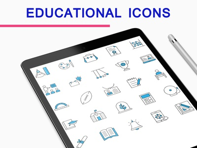 School And Education Filled Outline Style
