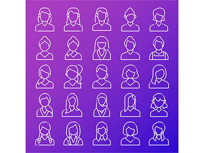 Avatar Female icon user interface icons design design illustrations vectors icons set illustration illustrator vector icons avatar icons female character account profile female avatar
