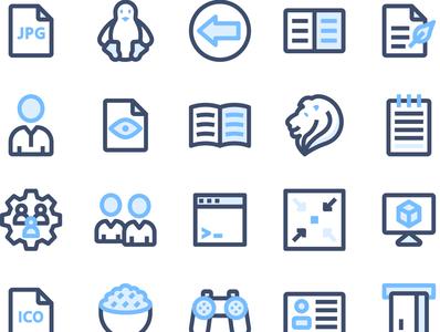 Basic UI Elements 2 4   Filled Outline