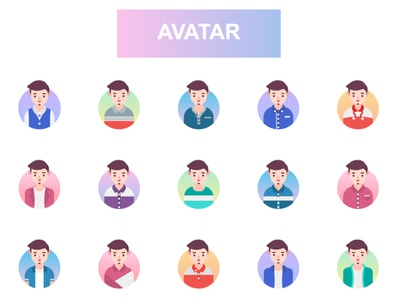 Avatar design illustrations icons set illustration vector avatar design people icons vector illustration avatar icons man male people vectors avatar