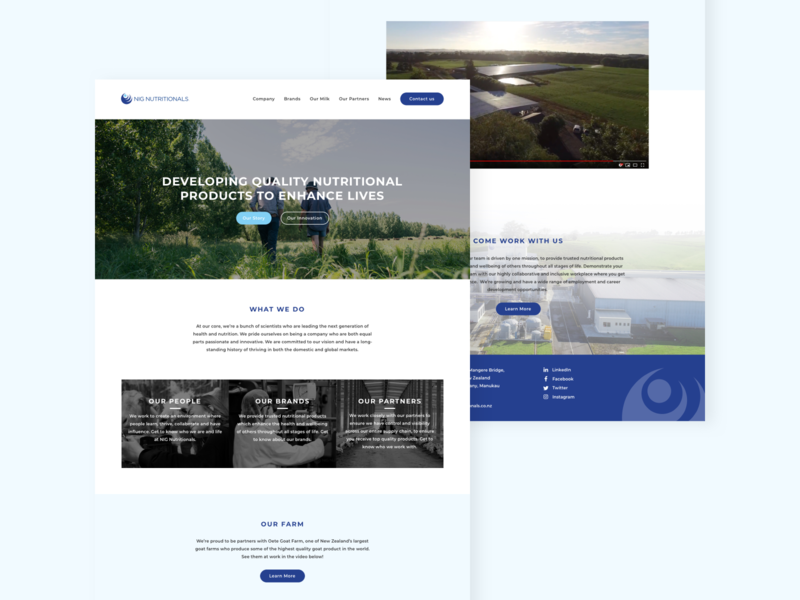 Homepage concept overview minimal clean images proposal design concept homepage