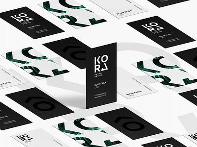 Kora Business Cards business cards corporate branding branding design