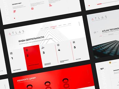 Atlas Technologies identity webdesign branding ux ui