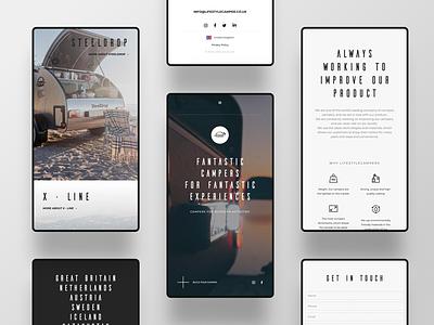 Live Style Campers logo icon typography design branding dark webdesign ux ui