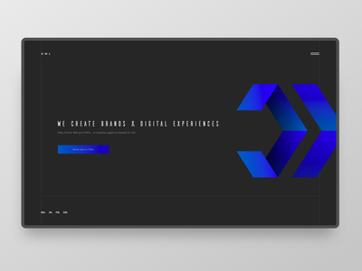 OWL vector dark typography webdesign ui