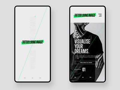Tatoo Living Image branding design webdesign ui