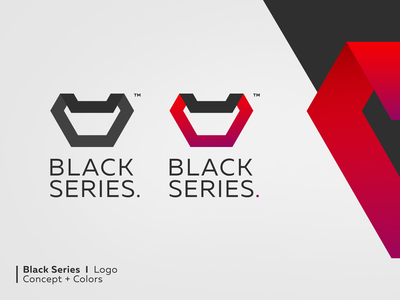 Black Series Logo corporate branding identity design design brand logo identity