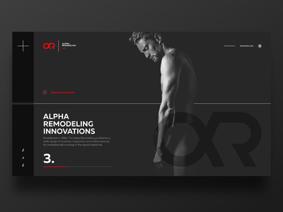 Alfa Remodeling UI visual art black ui dark corporate branding design branding web  design ui deisgn