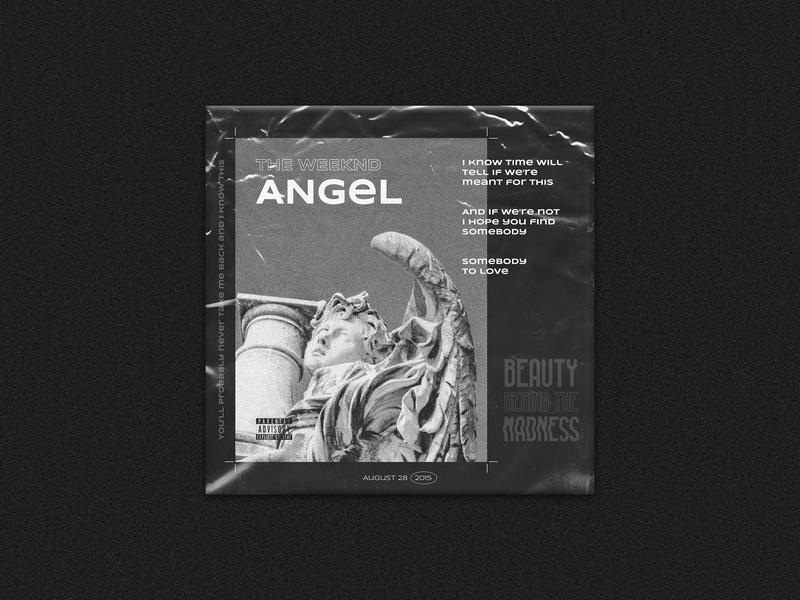 Mix.06 // Angel – The Weeknd lyrics greyscale black and white the weeknd art direction music design art album art design