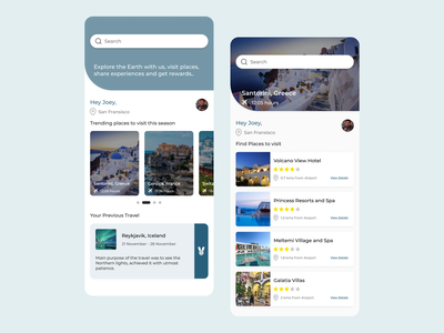 Travel App minimal flat booking travel visual design userinterface figma ux app ui design