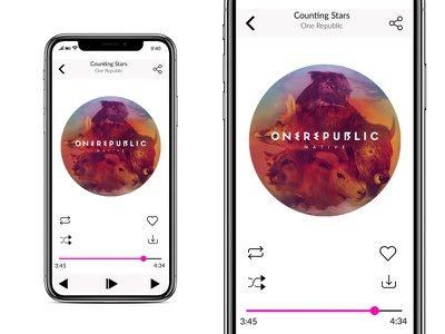 UI 3 Music App branding web app ux illustration ui design