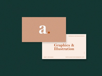 Business Cards // Personal Brand orange salmon stationery collaterals mockup clean minimalism business cards calling cards branding identity personal branding