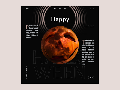 Halloween   Interface Game simple challenge slider interface dark moon typography poster concept creative halloween square