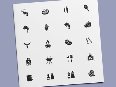 Barbecue Icons cooking grilling grill food bbq barbecue icon set icon design icons icon