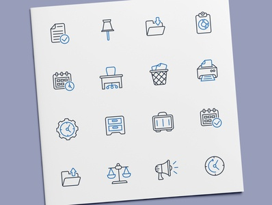 Office Icons stationery business office icon set icon design icons icon