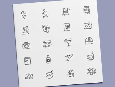 Vacation Icons holidays holiday travel vacation icon set icon design icons icon