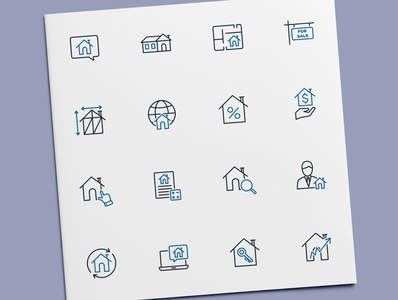 Real Estate Icons mortgage house home property real estate icon set icon design icons icon