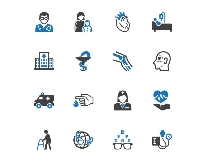 Medical & Healthcare Icons icon design illustration vector ui health care healthcare medical icon set icons icon