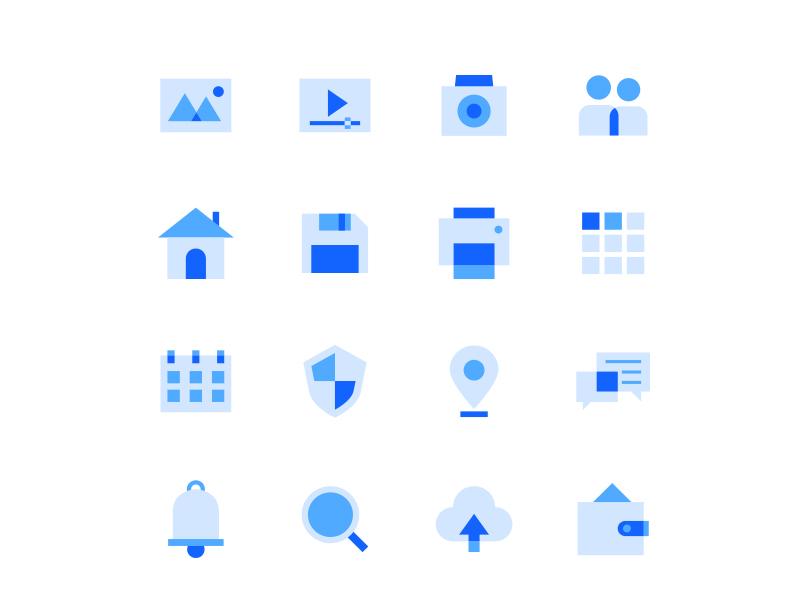 Tri-tone User Interface Icons user interface illustration vector ui icon set icon design icons icon