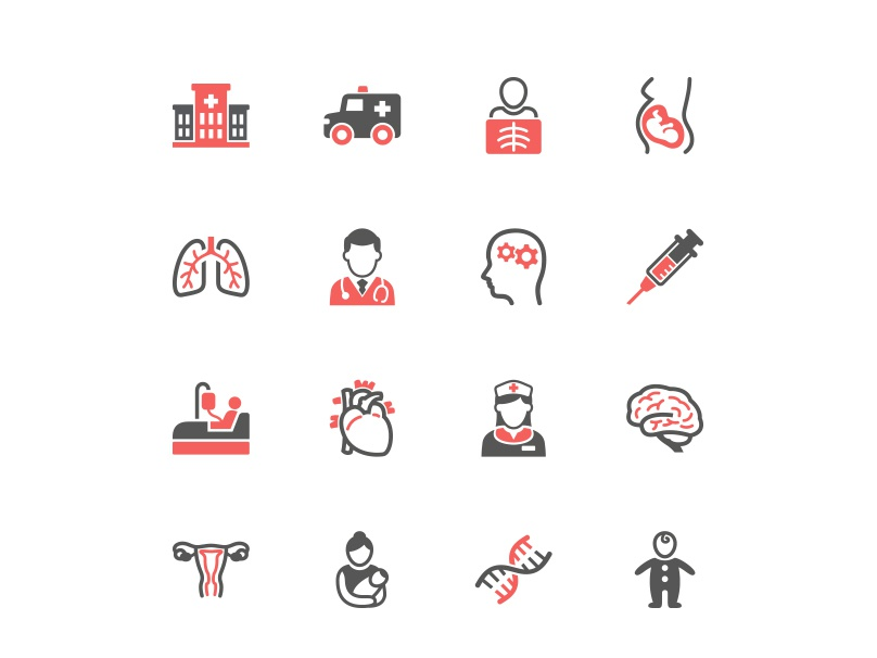 Healthcare & Medical Icons doctor hospital healthcare medical illustration vector ui icon design icon set icons icon