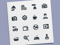 Hotel & Vacation Icons